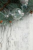 Silver christmas balls — Stock Photo