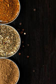 Set of spices as background — Stock Photo