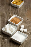 Various of sugar — Stock Photo