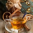 Christmas tea — Stock Photo