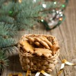 Christmas homemade cookies — Stock Photo