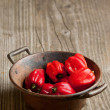 Stock Photo: Red chili habanero peppers