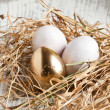 Easter eggs in nest — Stock Photo #20045607
