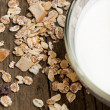 Yoghurt and muesli — Stock Photo