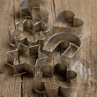 Metal cookie cutters - Stock Photo