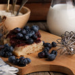 Pie with blueberry — Stock Photo