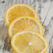 Stock Photo: Sliced lemon