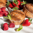 Muffins with berries — Stock Photo #20069001