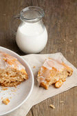 Homemade cake with milk — Stock Photo