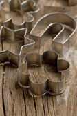Metal cookie cutters — Stock Photo
