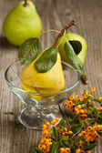 Pears and berry — Stock Photo