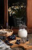 蓝莓蛋糕 — 图库照片