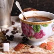 Cup of coffe on breakfast - Stok fotoraf