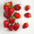 Box of strawberries — Stock Photo