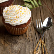 Cupcakes with whipped cream — Stock Photo #20087855