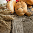 Lot of bread with spikes — Stock Photo #20088575