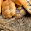 Lot of bread with spikes — Stock Photo #20089039