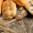 Lot of bread with spikes — Stock Photo