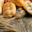 Lot of bread with spikes — Stock Photo #20089047