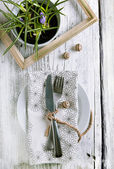 Rustic table setting — Stock Photo