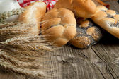 Mix of breads with spikes — Stock Photo