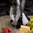 Wine and fruits - Stock Photo