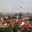 View of Prague from hill - Stock Photo