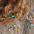 Colorful glass beads closeup — Stock Photo