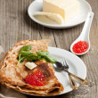 Red caviar and pancakes - Lizenzfreies Foto