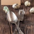 Royalty-Free Stock Photo: Easter table setting with quail eggs
