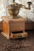 Old coffee grinder — Стоковое фото