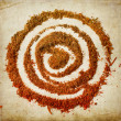 Spiral of spices — Stock Photo