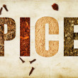 Stock Photo: Word spices