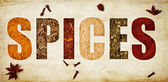 The word spices — Stock Photo