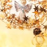 Christmas card with angel — Stock Photo
