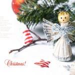 tarjeta de Navidad con Ángel — Foto de Stock