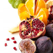 Stock Photo: Group of fresh fruits