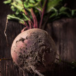 Beetroot on wood — Stock Photo