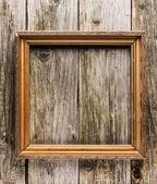 Marco vintage sobre fondo de madera antiguo — Foto de Stock