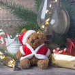 Christmas decoration with teddy bear — Stockfoto #34053987