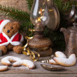 Christmas decoration with teddy bear with cookies — Stock Photo #34062411