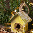 Christmas nesting box — Stock Photo