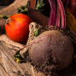 Stock Photo: Pumpkins and beetroot