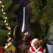 Christmas decoration with teddy bear — Zdjęcie stockowe #34597301