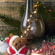 Christmas decoration with teddy bear — Zdjęcie stockowe #35919405