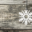Silver christmas snowflake — Stock Photo