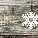 Silver christmas snowflake — Stock Photo