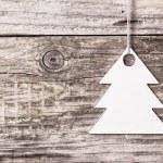 árbol de Navidad plata — Foto de Stock