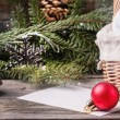 Christmas toys with Christmas tree — Stock Photo
