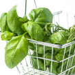 Stock Photo: Food basket of herbs